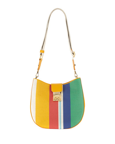 Patricia Rainbow Canvas Hobo Bag