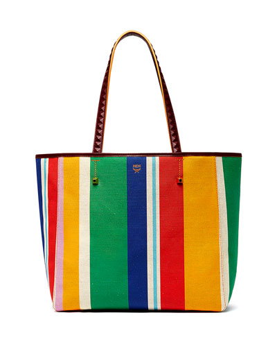 UHSE Striped Canvas Tote Bag