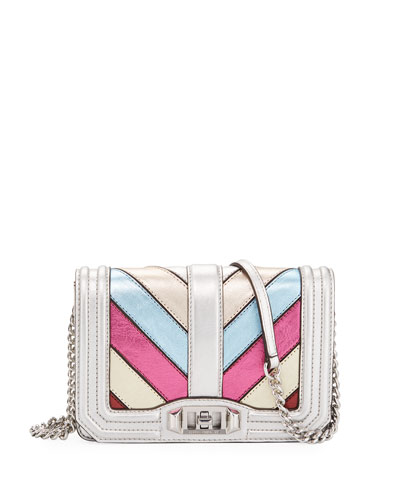 Love Small Metallic Crossbody Bag, Multi