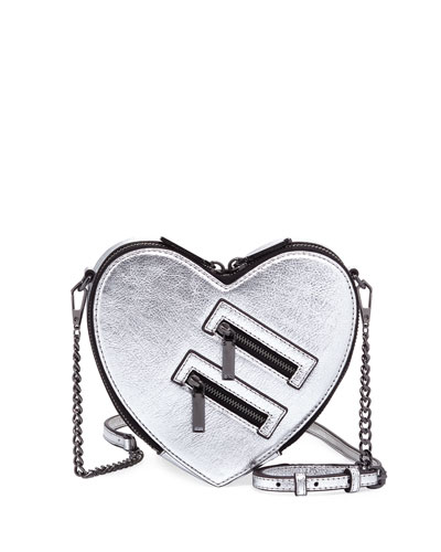 Jamie Metallic Heart Crossbody Bag