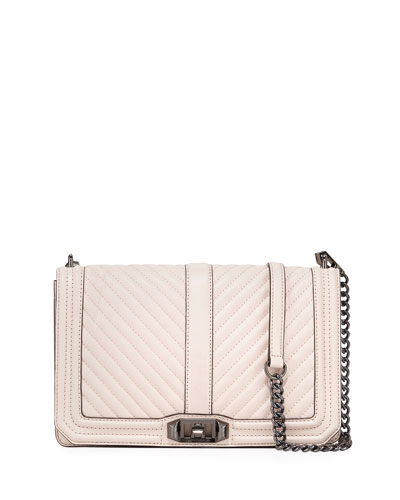 Love Chevron Quilted Crossbody Bag