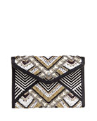 Wonder Leo Beaded Clutch Bag