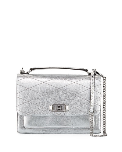 Je Taime Medium Metallic Crossbody Bag