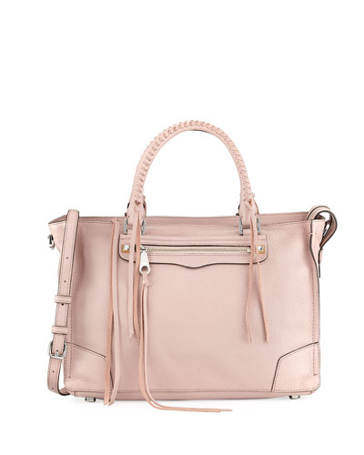 Regan Pebbled Leather Satchel Bag