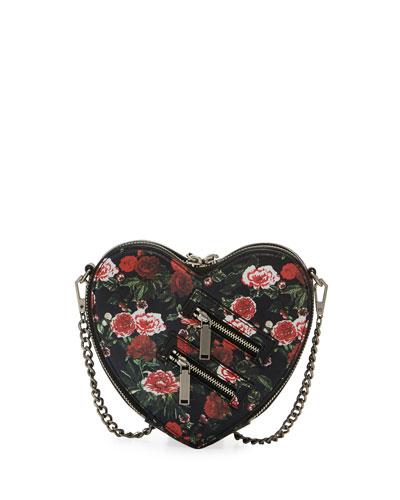 Jamie Heart Floral Crossbody Bag