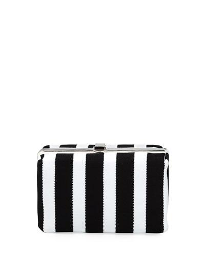 Asymmetric Frame Clutch Bag