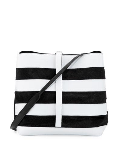 Frame Striped Leather Shoulder Bag