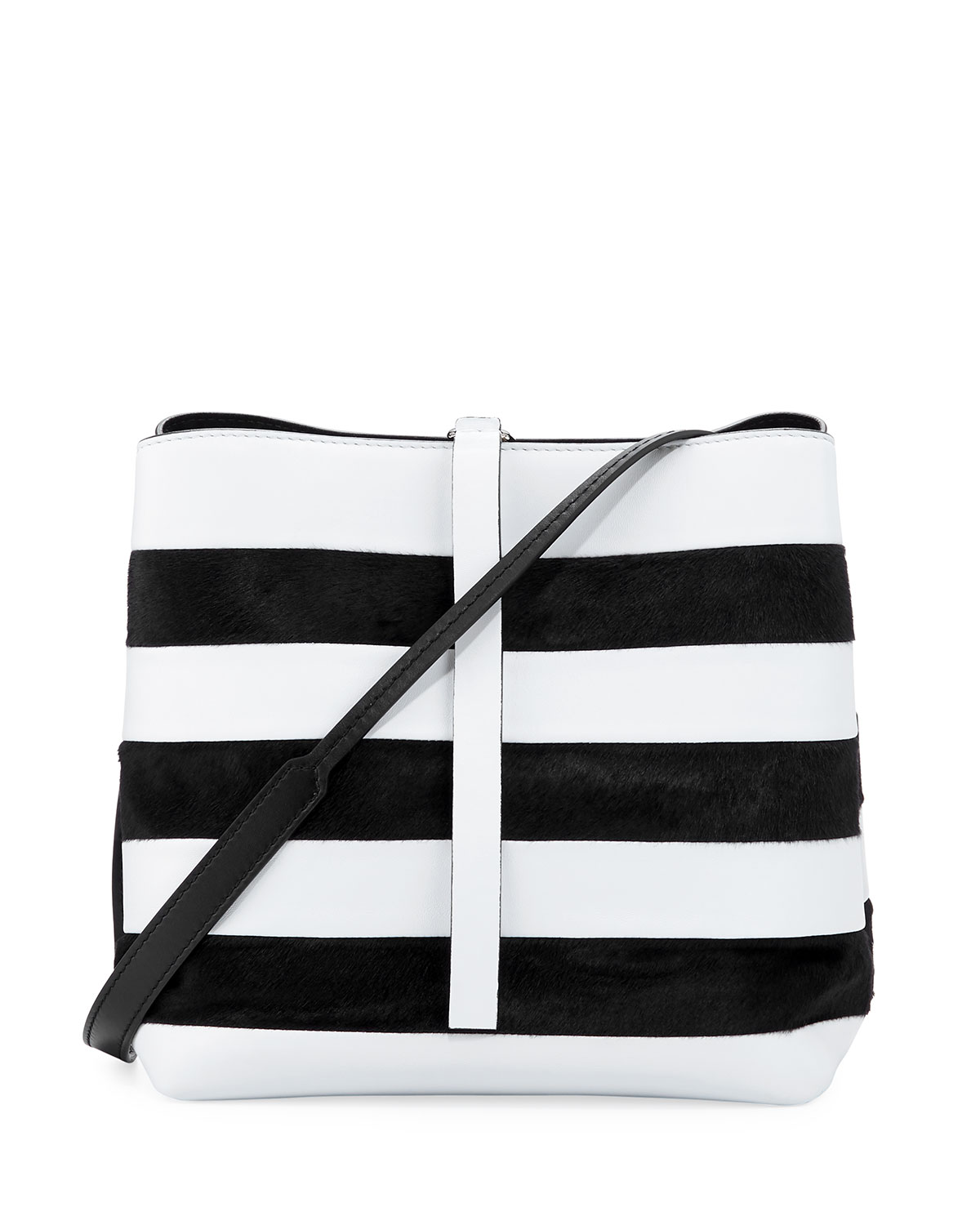 Frame Striped Leather Shoulder Bag
