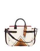 Swagger Colorblock Quilted Tote Bag with Rivets