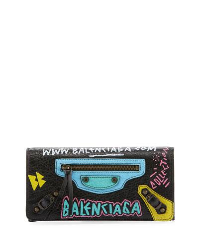 Classic Money Wallet with Graffiti Design