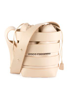 Cage Leather Small Hobo Bag, Nude