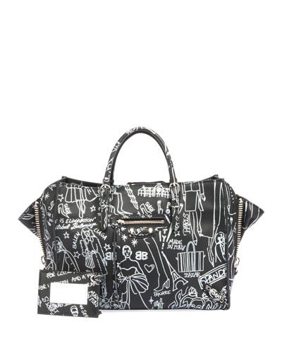 Papier A6 Zip Around Graffiti Tote Bag