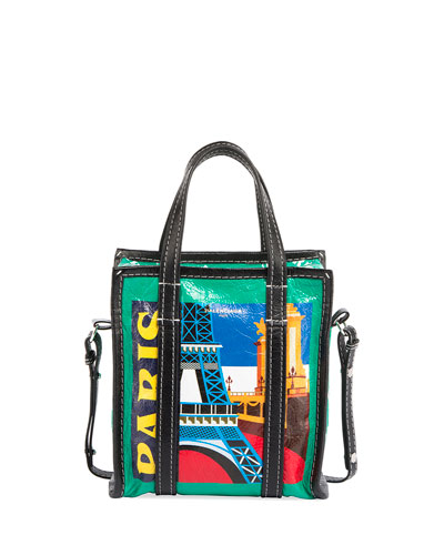 Bazar Shopper Extra-Small Paris-Print Tote Bag