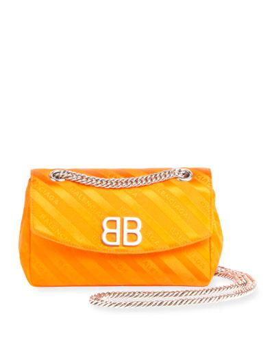 Chaine Round Logo Jacquard Shoulder Bag