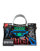 Classic Small City Graffiti-Print Tote Bag