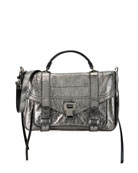 PS1+ Medium Metallic Paper Leather Satchel Bag