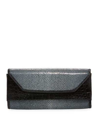 Crocodile Stingray Clutch Bag