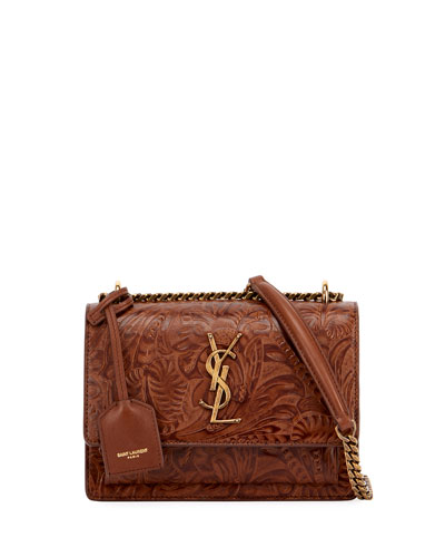 Sunset Monogram Small Embossed Crossbody Bag