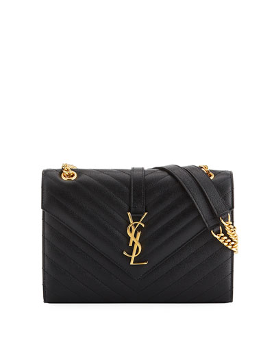 V Flap Monogram Medium Envelope Shoulder Bag