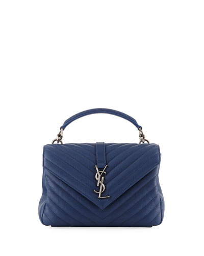 Monogram YSL College Medium V-Flap Crossbody Bag