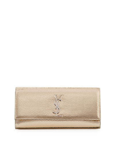 Kate Monogram Crackled Leather Clutch Bag