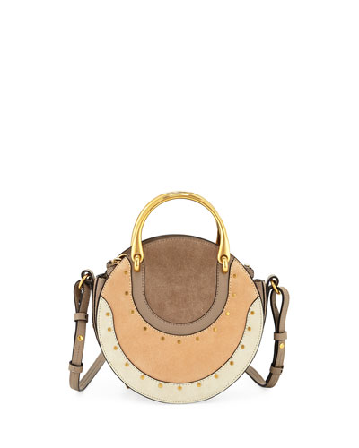 Pixie Small Colorblock Round Shoulder Bag