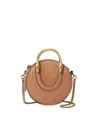 Pixie Mini Leather/Suede Crossbody Bag