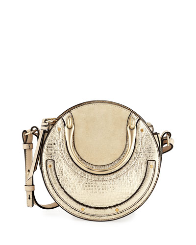 Pixie Mini Metallic Crossbody Bag