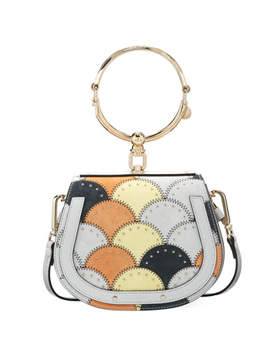 Nile Small Studded Stitched Bracelet Bag