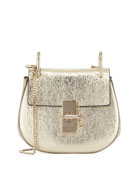Drew Mini Metallic Leather Crossbody Bag