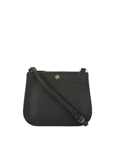 Milky Way Piccola Leather Crossbody Bag, Black