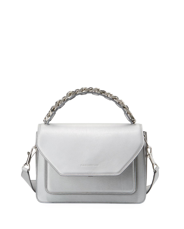 Eclipse Medium Silver Madras Top Handle Bag
