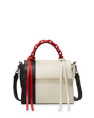 Angel Small Abstract Colorblock Top Handle Bag