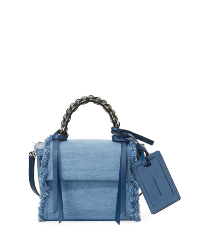 Angel XS Abstract Jeans Top Handle Bag