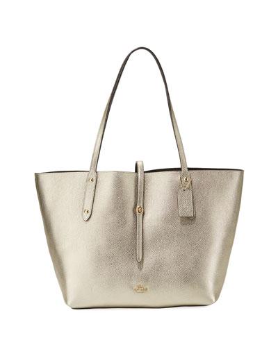 Market Metallic Tote Bag