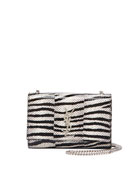 Kate Monogram Small Snakeskin Chain Crossbody Bag