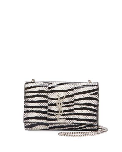 Kate Monogram YSL Small Snakeskin Chain Crossbody Bag