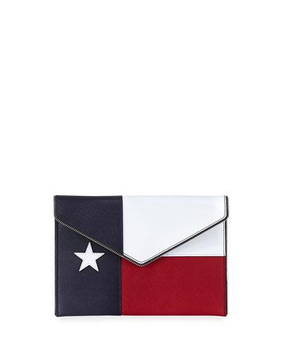 Texas Leo Envelope Clutch Bag