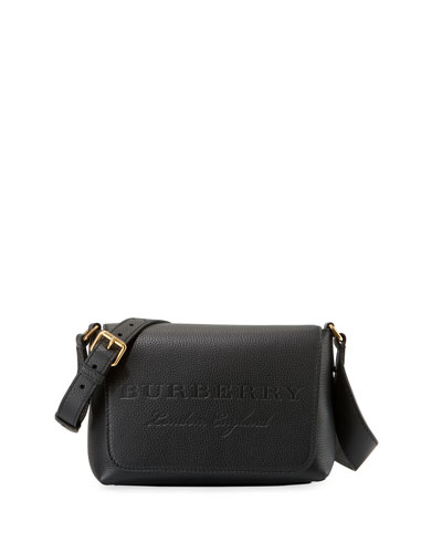 Burleigh Small Soft Leather Crossbody Bag, Black