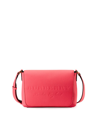 Burleigh Small Soft Leather Crossbody Bag, Bright Pink
