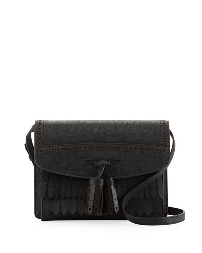 Small Macken Broguing Tassel Shoulder Bag