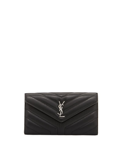 Loulou Monogram Continental V-Flap Wallet
