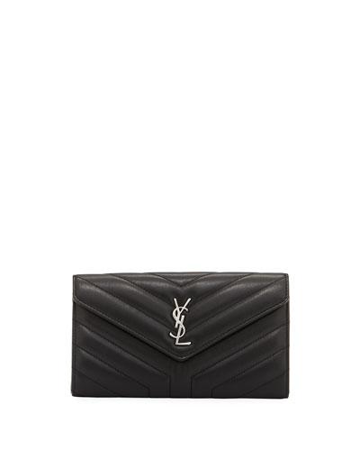 Loulou Monogram Continental V-Flap Wallet