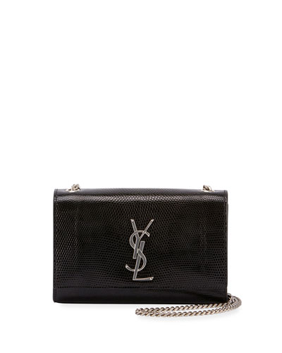 Kate Monogram YSL Small Lizard Chain Shoulder Bag
