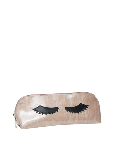Reynolds Cosmetics Bag, Brushed Rose Gold Eyelashes