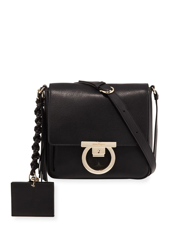 Medium Leather Lock Shoulder Bag