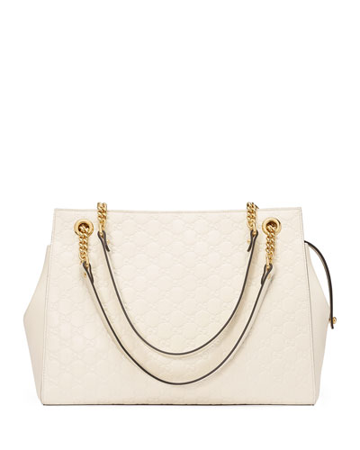 Linea A Large Guccissima Square Tote Bag