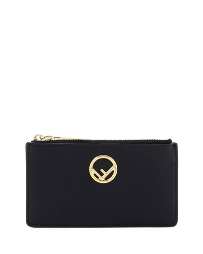 F Logo Card Case Pouch Bag