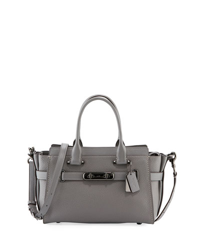 Swagger 27 Prairie Rivets Satchel Bag, Gray