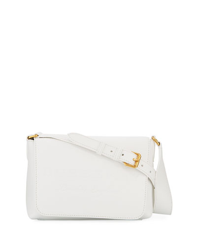 Burleigh Small Soft Leather Crossbody Bag, White